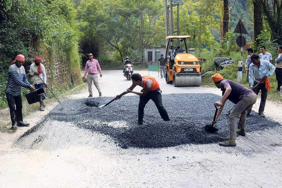 Nepal's oldest highway being repaired