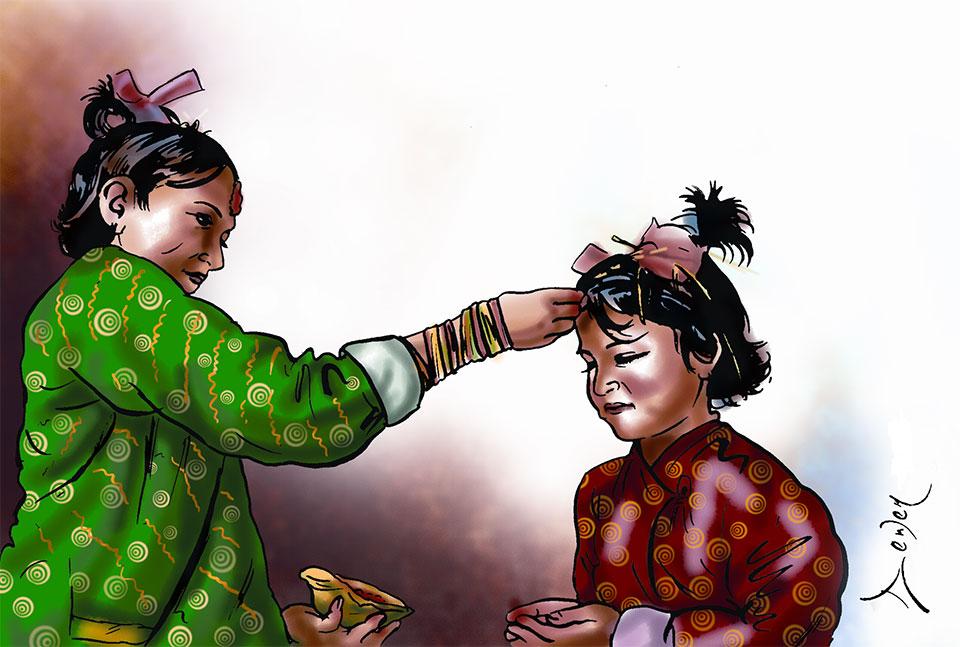 10:35 am most auspicious time for Dashain Tika