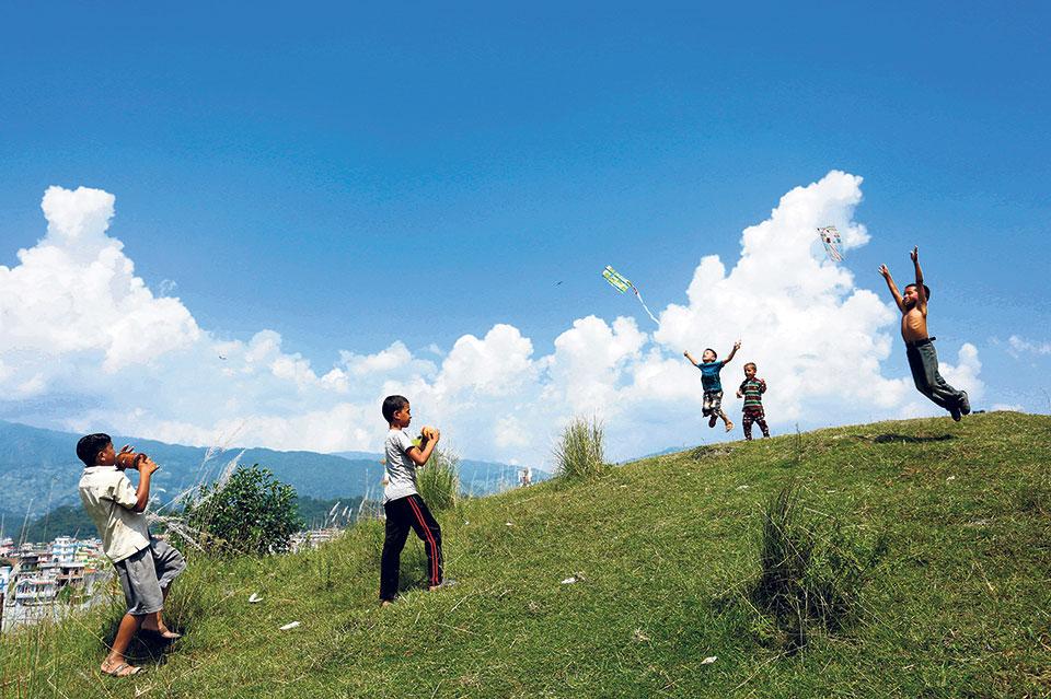 I spy a kite in the Dashain sky