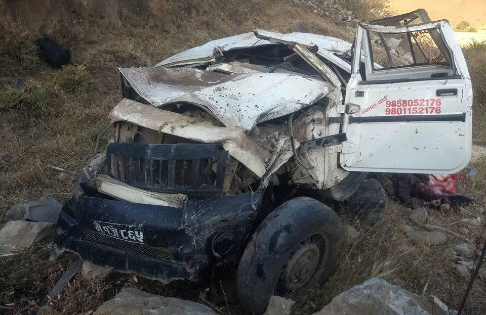 Three die as jeep veers 200 meters off the road in Jumla