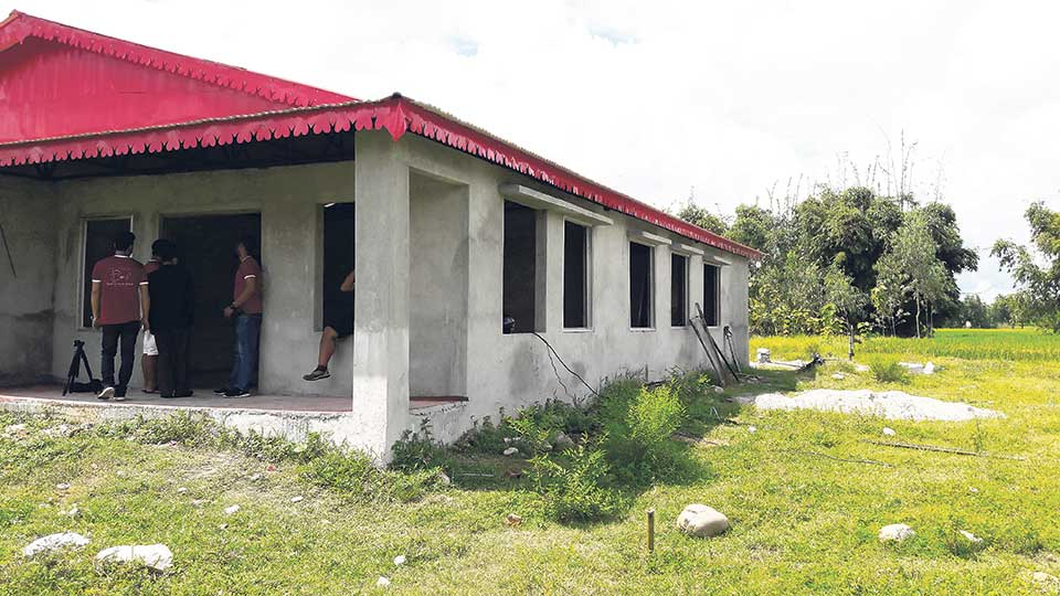 Youths build children's shelter in Jhapa