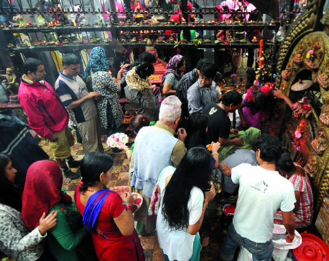 Maha Astami being observed today