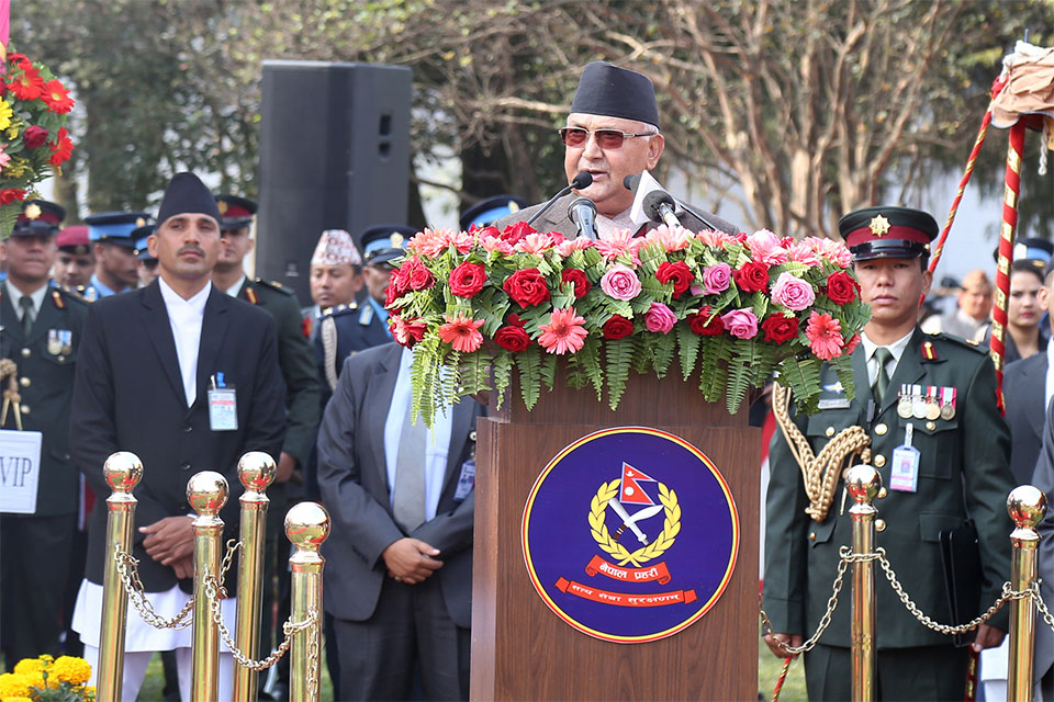 Peace, security first step for prosperous country: PM Oli