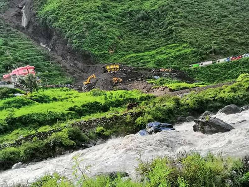 Death toll in Rasuwa landslide climbs to 4