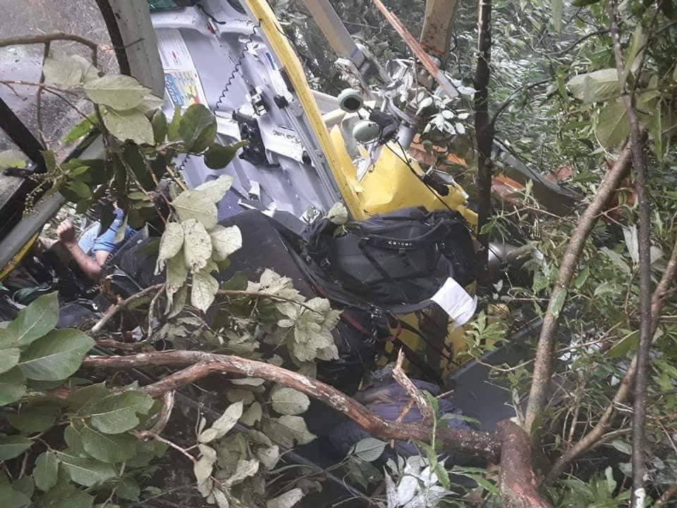 Six killed, one critically injured in Nuwakot chopper crash