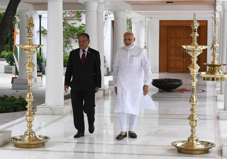 Dahal meets Modi in Delhi