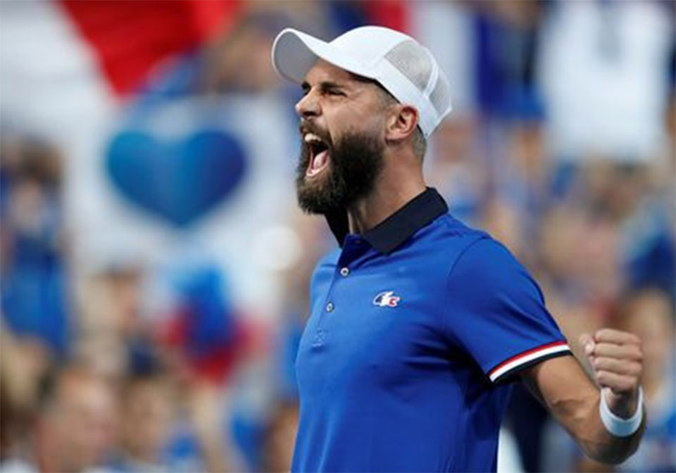 Paire, Pouille give France control in Davis Cup semi