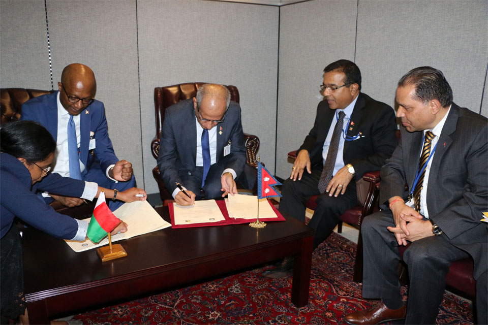 Nepal, Madagascar establish diplomatic relations