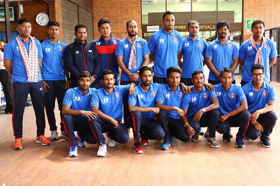 Nepali Cricket Team returns home