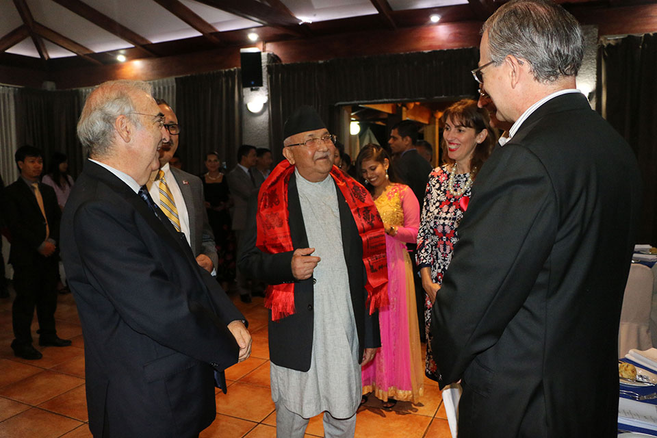 PM Oli attends banquet