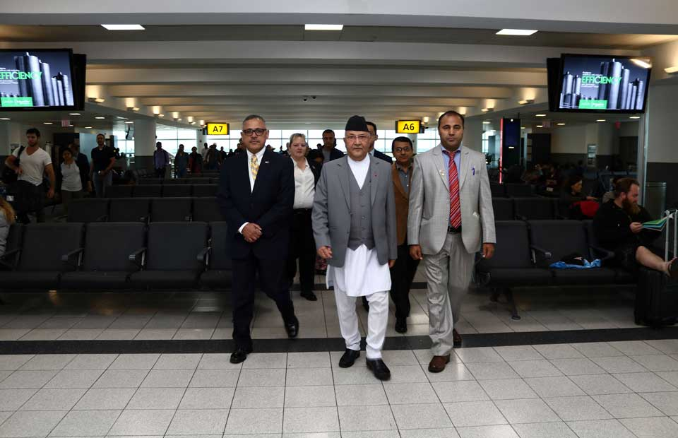 PM Oli at New York