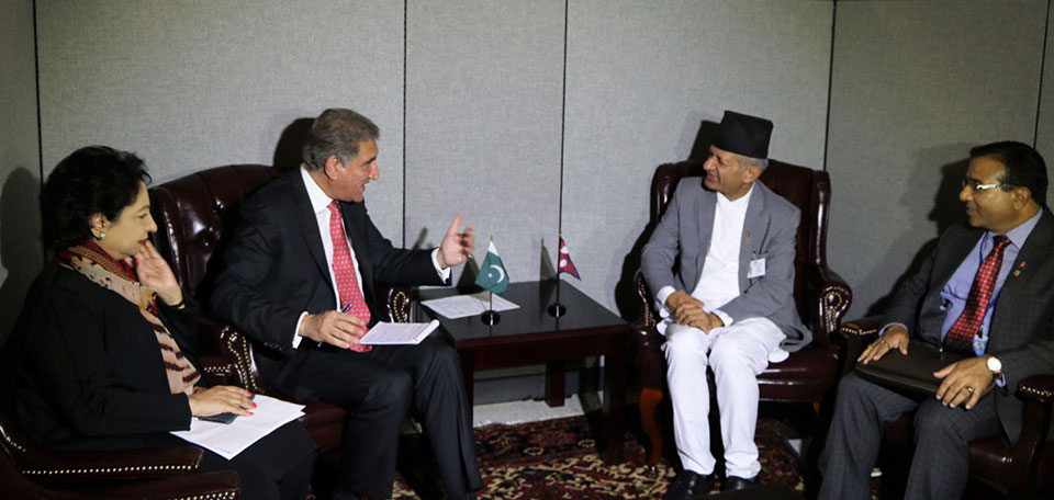 Foreign Affairs Minister Gyawali meets Pakistani counterpart