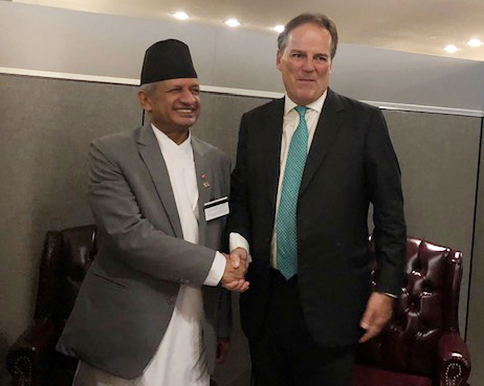 Foreign Affairs Minister Gyawali and UK Minister hold talks