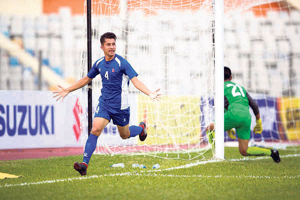 Nepal in contention for semis after Bhutan rout in SAFF C'ship