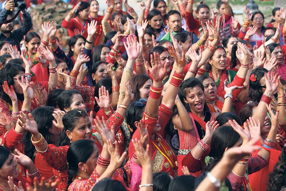 (IN PICS) Teej festival being observed across the country