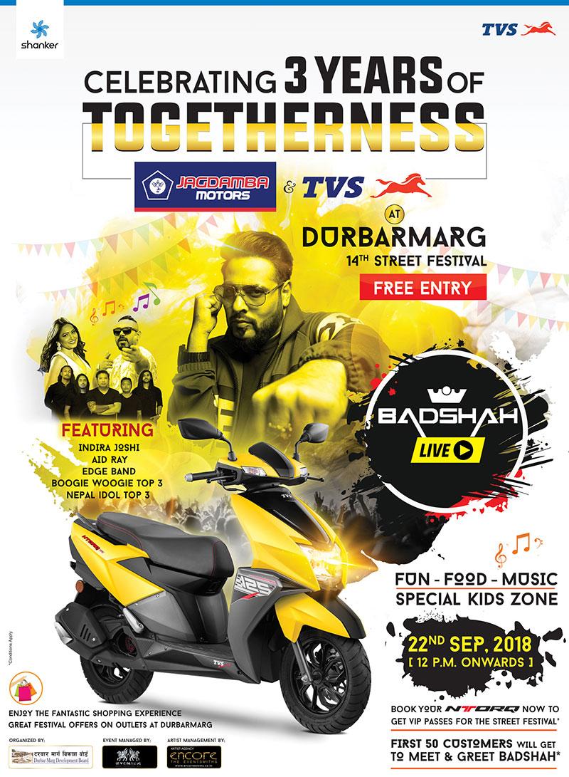 TVS and Jagdamba Motors to celebrate three years of togetherness