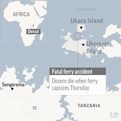 UPDATE: Tanzania death toll 209 as survivor found in capsized ferry