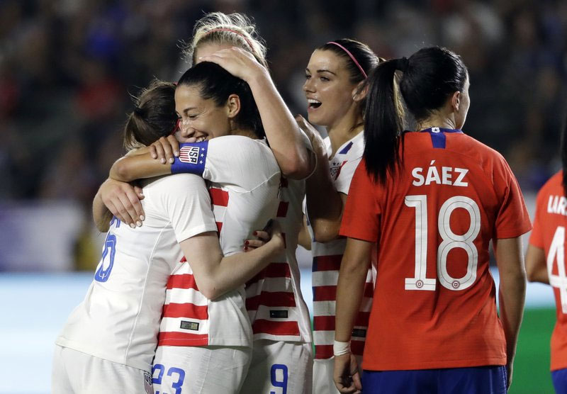 US women beat Chile in warmup for World Cup qualifying