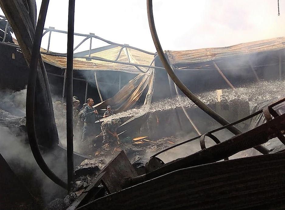 Millions gutted by fire in Birgunj