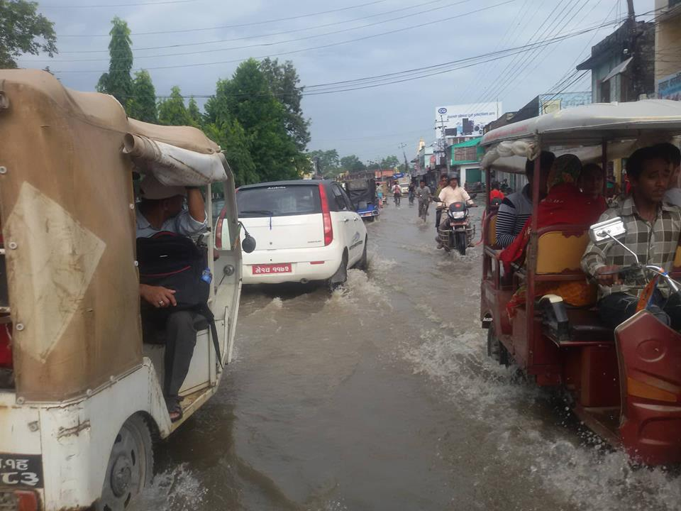 (In Pics) Dhangadi is waterlogged after incessant rainfall