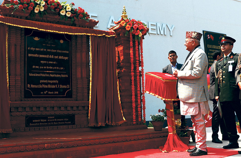 PM inaugurates Chinese-built APF training academy