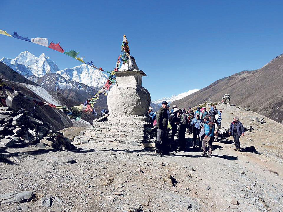Khumbu locals say snow came late and is less