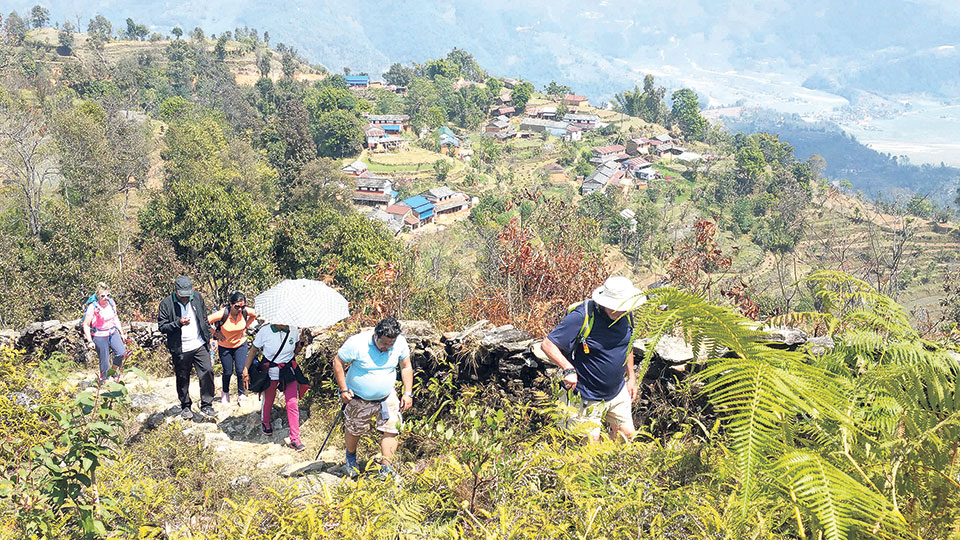 Trekking route explored in Pokhara's periphery