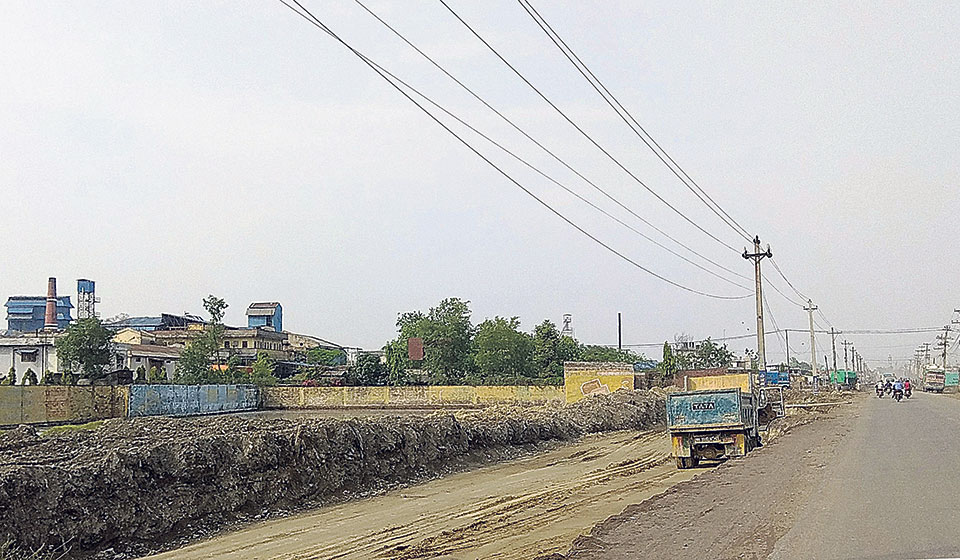 Another six-lane road under construction in Birgunj