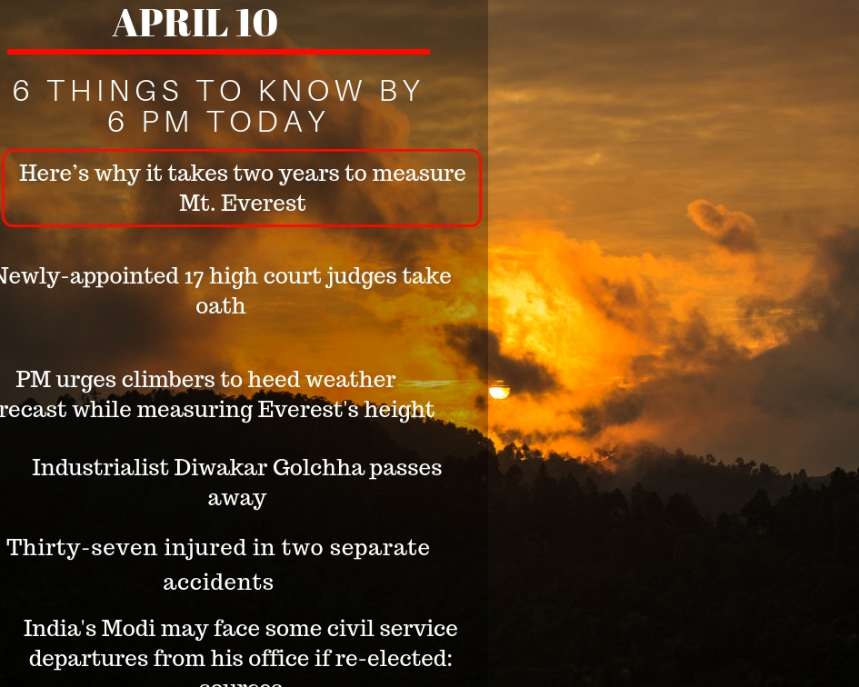 April 9: 6 things to know by 6 PM today