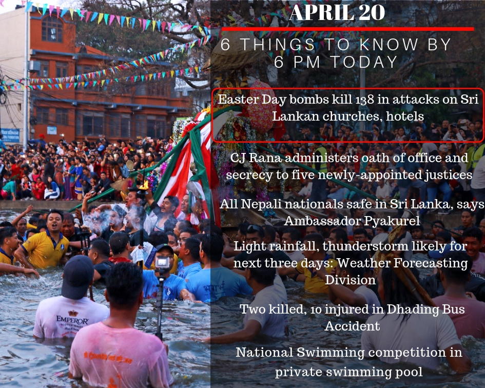 April 21: 6 things to know by 6 PM today