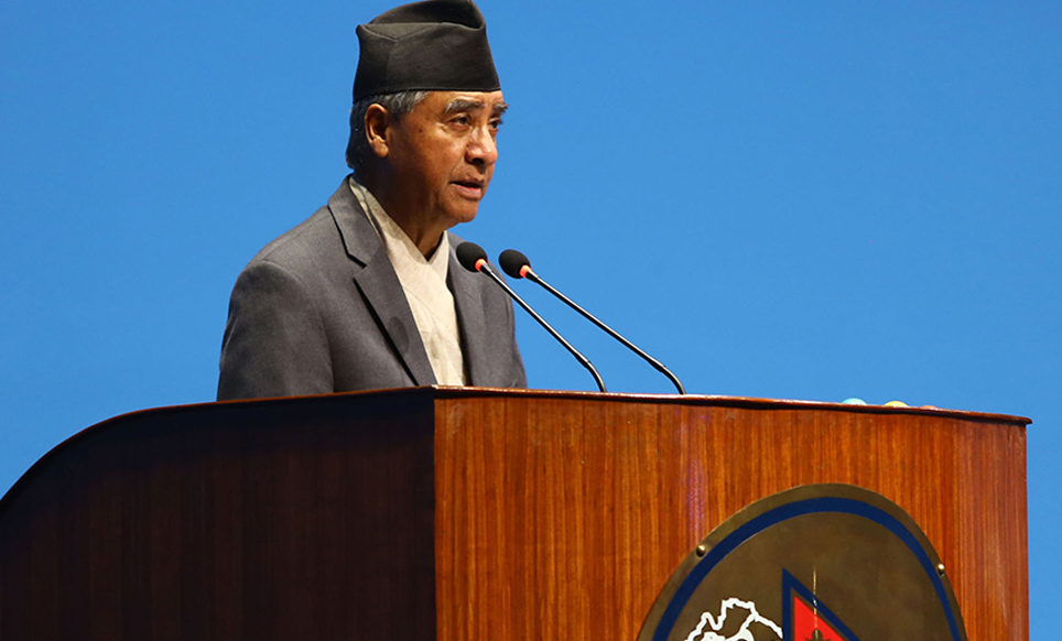 NC President Deuba calls for diplomatic solution  to Terai flood problem
