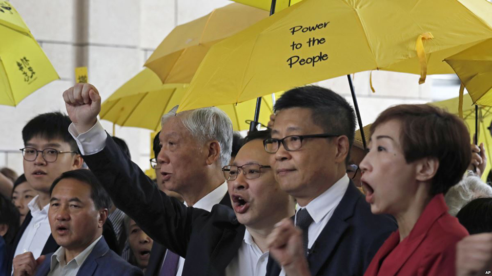 Nine Hong Kong pro-democracy activists found guilty over 2014 protests