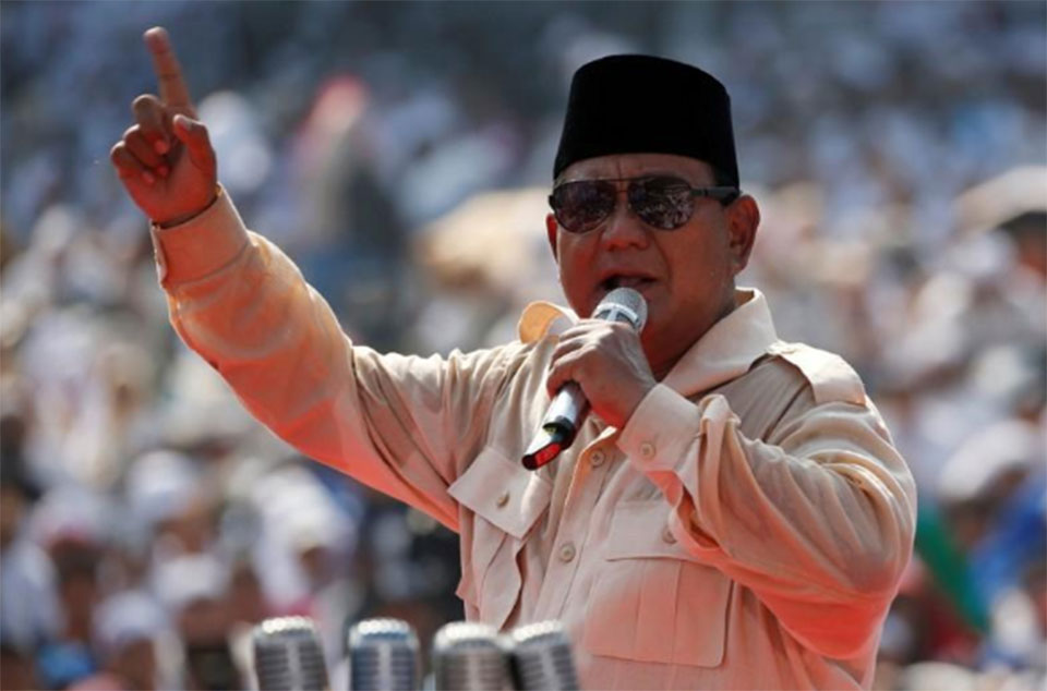 Indonesian former general fires up masses in second run at presidency