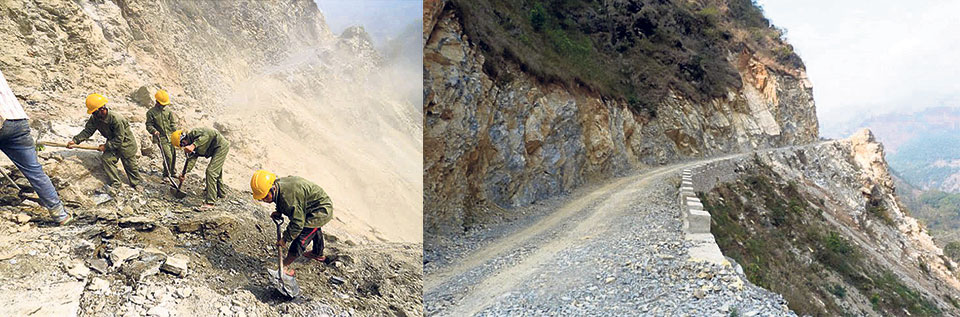 Work apace on Kaligandaki Corridor road widening