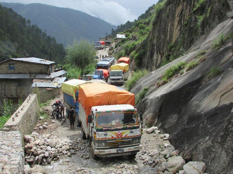 Passengers stranded as landslide obstructs Karnali highway