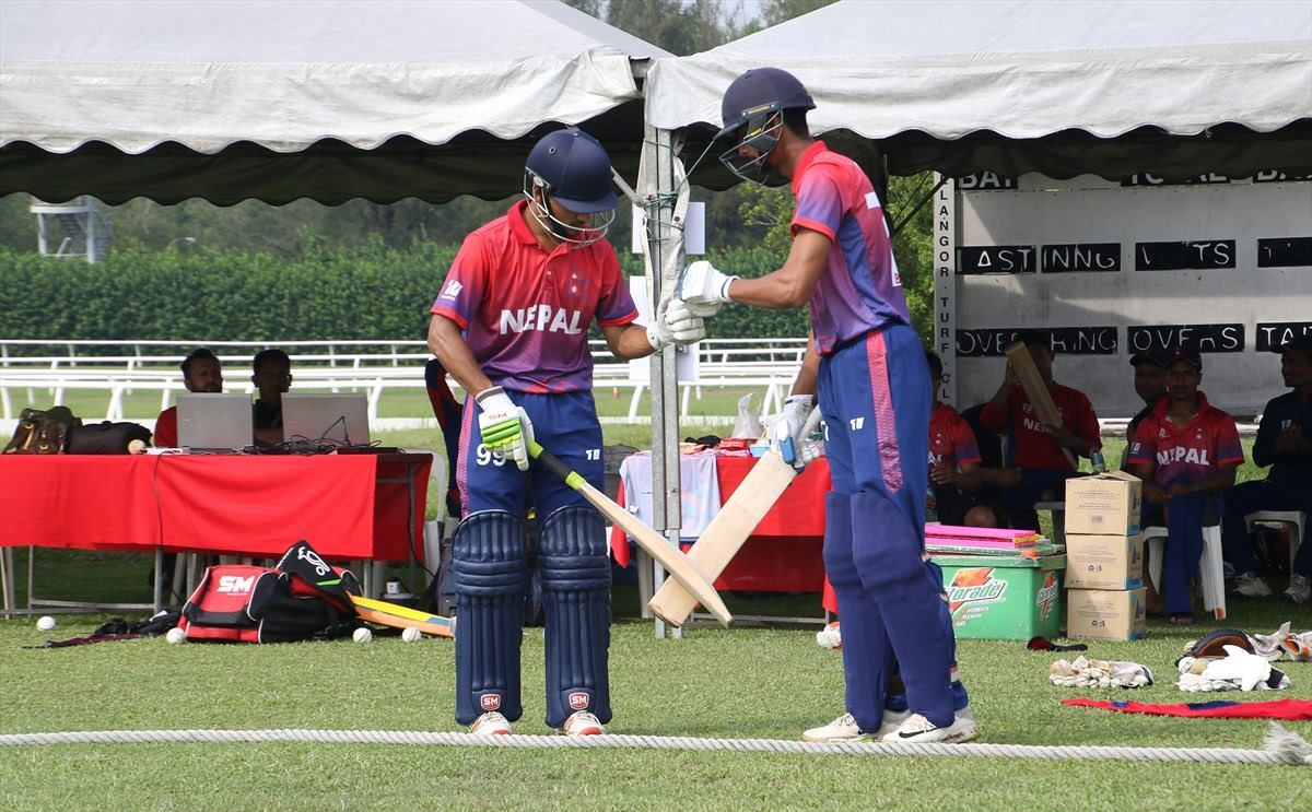 Nepal defeats Oman by 150 runs