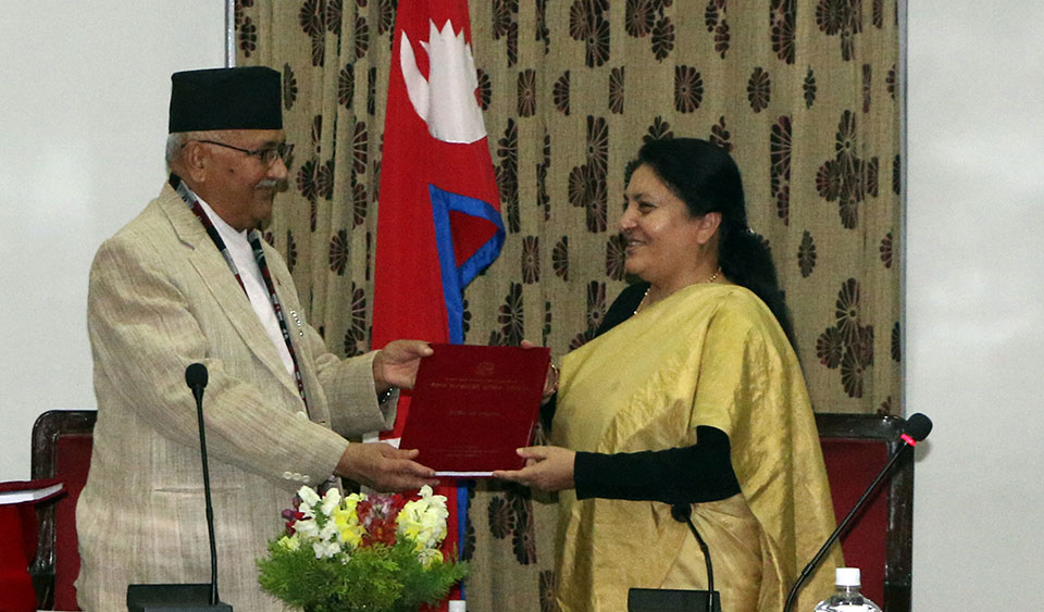 Govt submits annual report to President