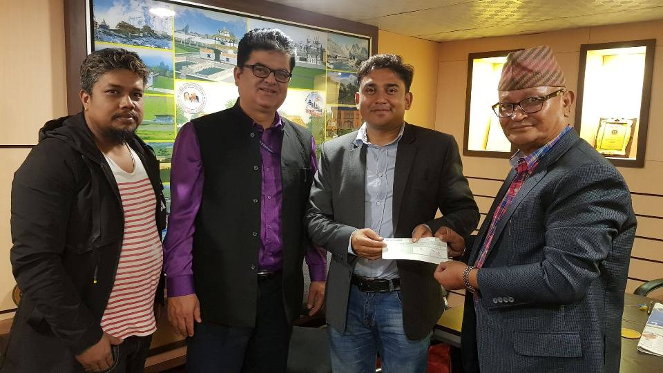 Crew of 'Yatra' donates Rs 50,000 to Dhurmus Suntali Foundation