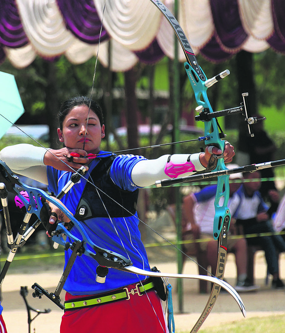 Awale, Sherchan win gold in archery