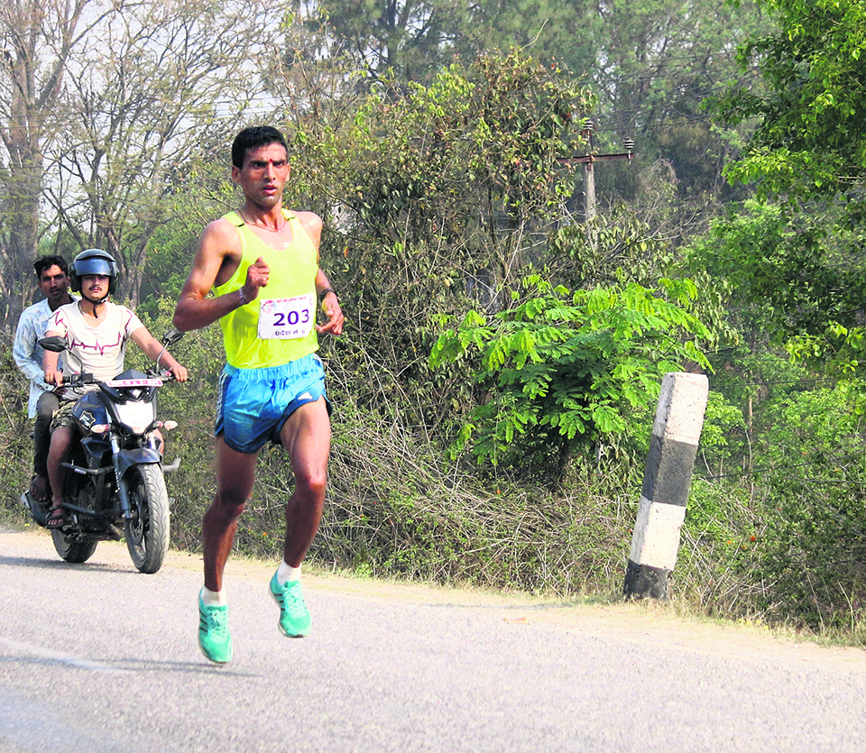 Basnet adds gold in marathon as Army dominates athletics