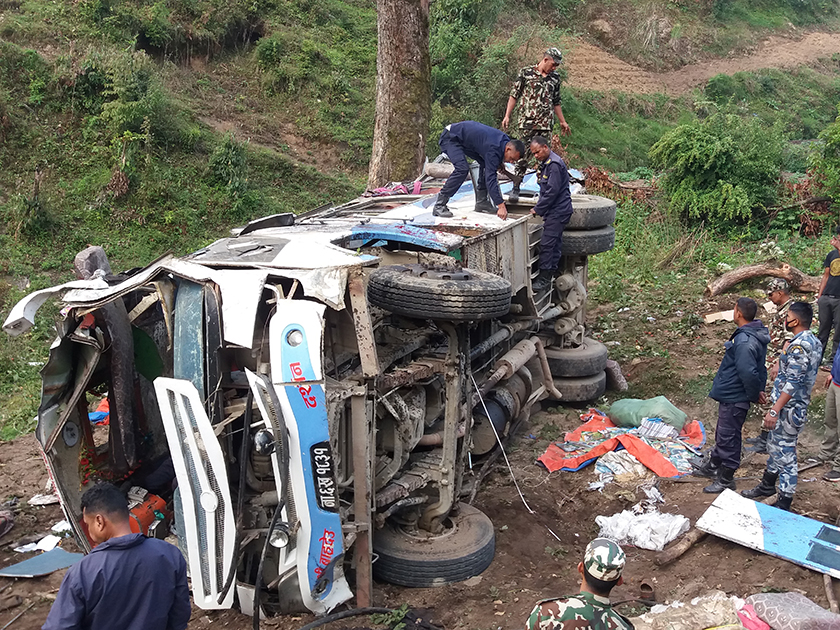 Dadeldhura bus accident: dead identified, 34 confirmed to be hurt