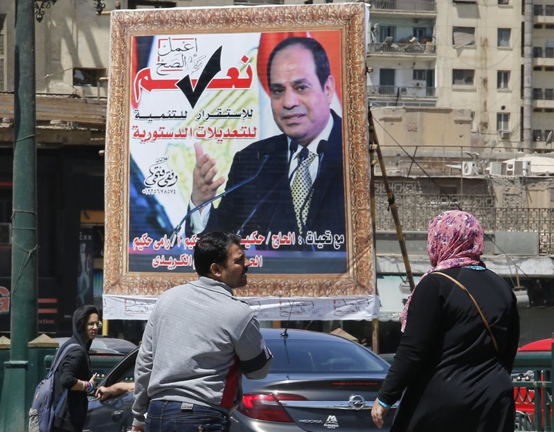 Egyptians vote on referendum extending el-Sissi's rule