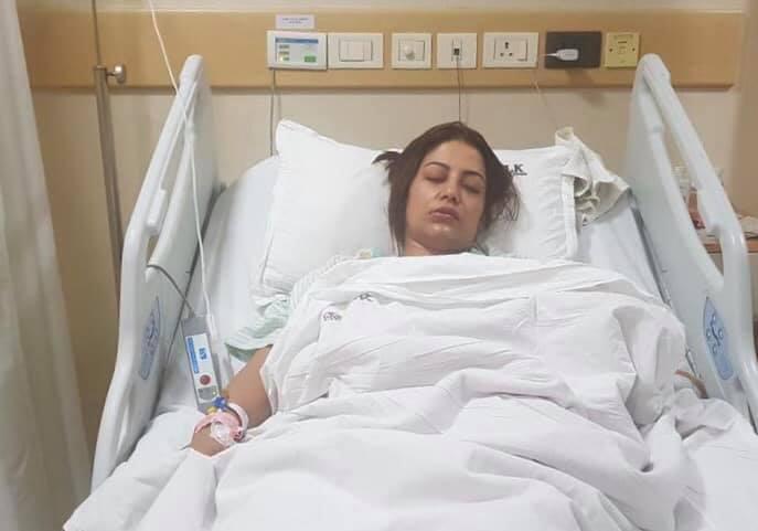 Shweta Khadka's tumor removed