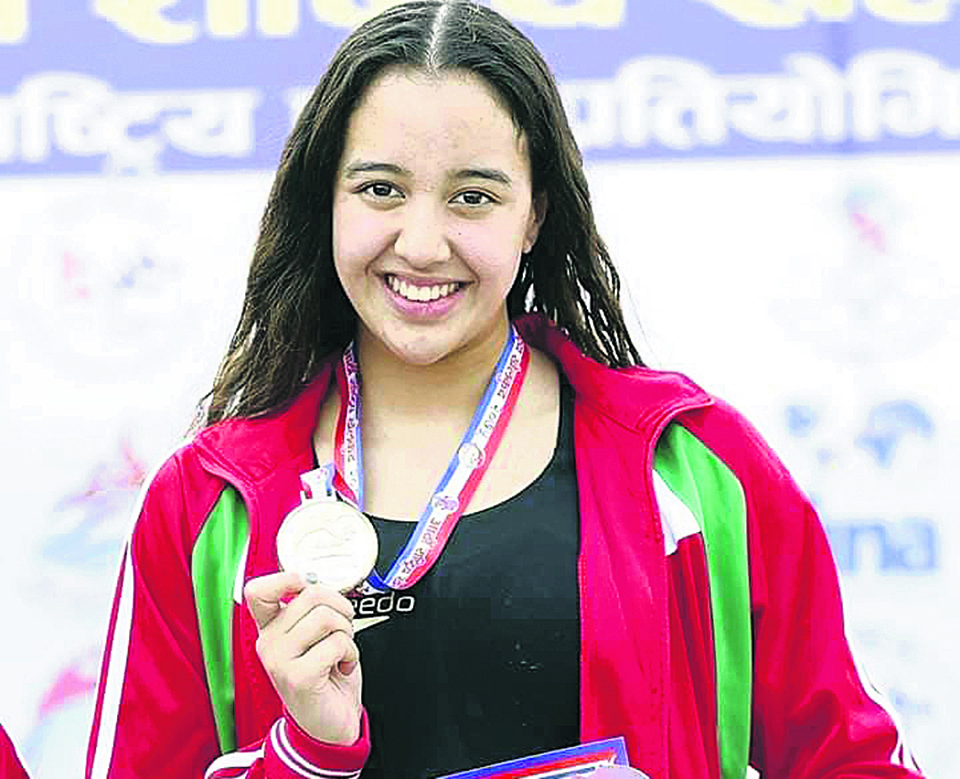 Gaurika sets three more nat'l records, wins total 12 golds