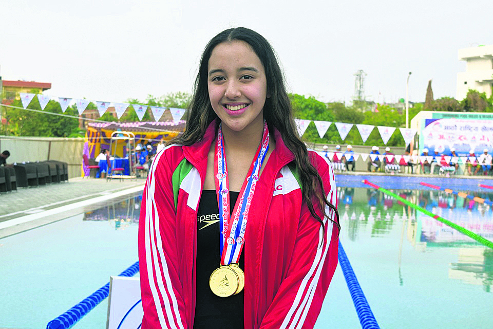 Gaurika sets another national record, wins two golds