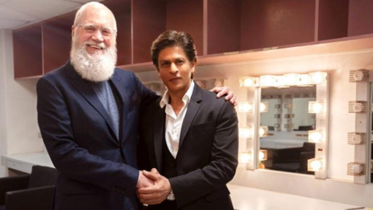 Shah Rukh Khan and David Letterman meet in New York for an interview