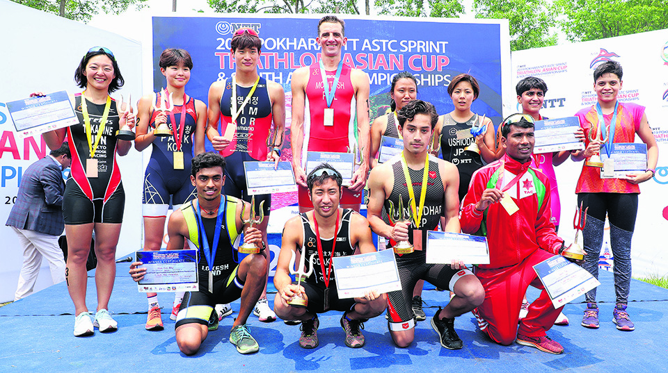 Japan's Odakura, Korea's Park win Asian Cup Triathlon C'ship
