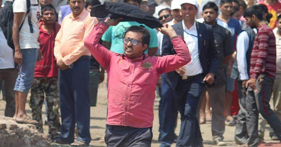 Black flag greets PM Oli in Butwal