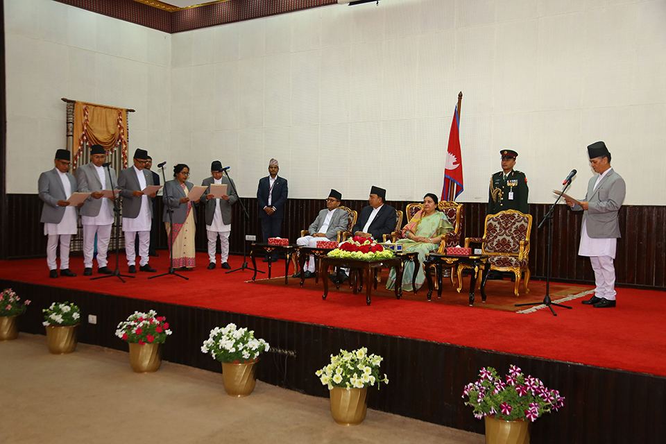 CJ Rana administers oath of office and secrecy to five newly-appointed justices