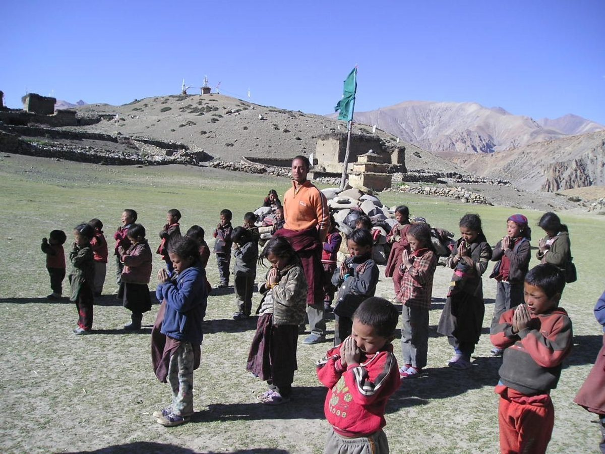 Dolpa school children without textbooks